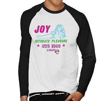 Joy intim nöje Call Girl mäns Baseball Långärmad T-Shirt