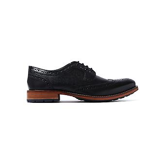 Men's Cassiuss 4 Derby Brogues - Black Leather