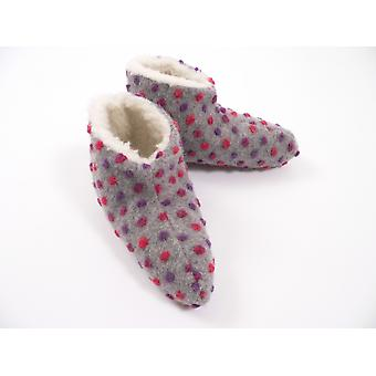 Bed shoes wool studs silver 38/39