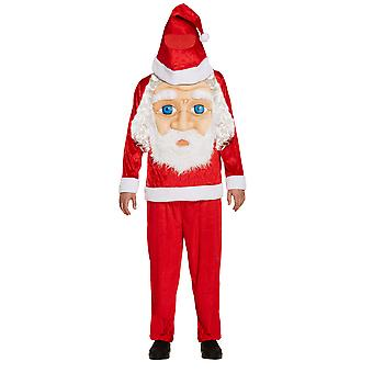 Adult's Christmas Santa Claus Jumbo Face Fancy Dress Costume -One Size