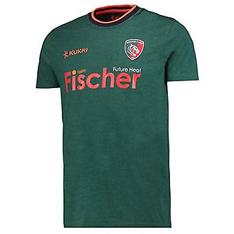 2017-2018 Leicester Tigers giocatori Rugby t-shirt (Green)