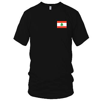 Libanon Land Nationalflagge - Stickerei Logo - 100 % Baumwolle T-Shirt Kinder T Shirt