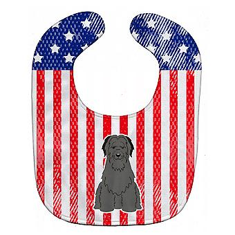 Carolines Treasures  BB3076BIB Patriotic USA Briard Black Baby Bib