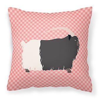 Gallese collonero capra Check rosa tessuto cuscino decorativo