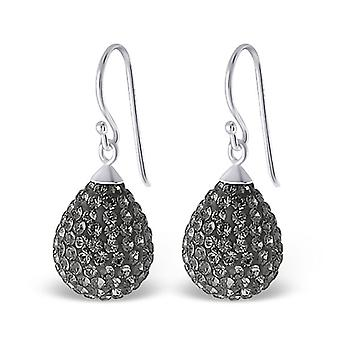 Drop - 925 Sterling Silver Crystal Earrings