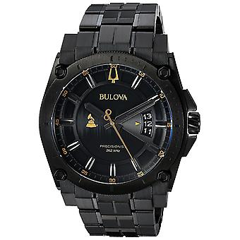 Bulova speciale Grammy edizione Precisionist Black Stainless Steel Mens Watch 98B295