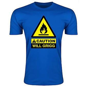 Vorsicht wird Griggs auf Feuer T-Shirt (Royal) - Kinder