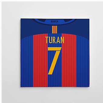 2016-2017 Barcelona lærred Udskriv (Turan 7)