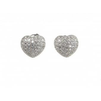 Cavendish French Small Micro-Set CZ Heart Earrings