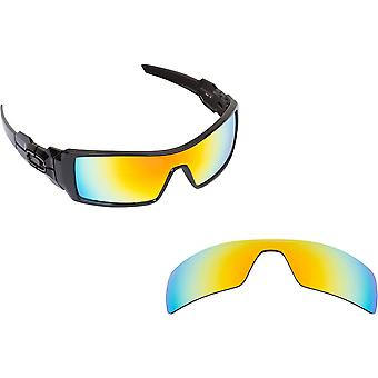 Best SEEK Polarized Replacement Lenses for Oakley OIL RIG 24K Gold Mirror