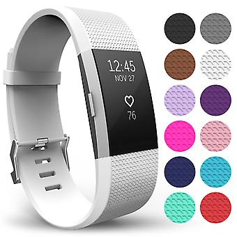 Yousave Fitbit Charge 2 Strap Single (Small) - White