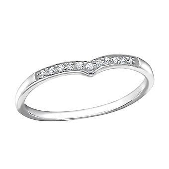 Heart - 925 Sterling Silver Jewelled Rings - W21693x