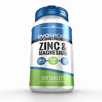 EvoSport Zinc and Magnesium ZMA - 120 Tablets - Sports Nutrition - Evolution Slimming