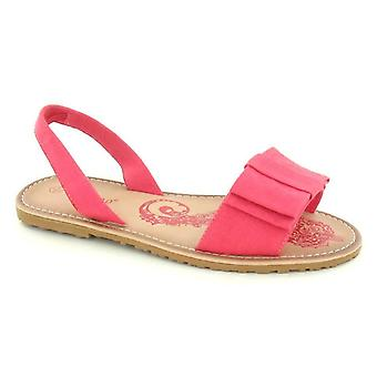 Ladies Womens Flats Slingback Canvas Summer Casual Sandals Shoes