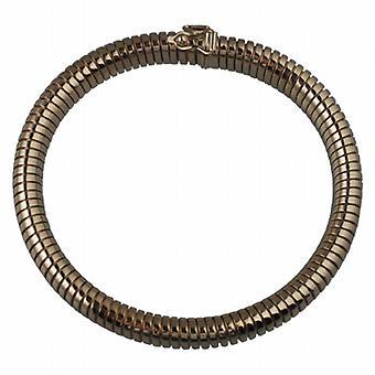 9ct Złota owalne bransoletka ciała węża