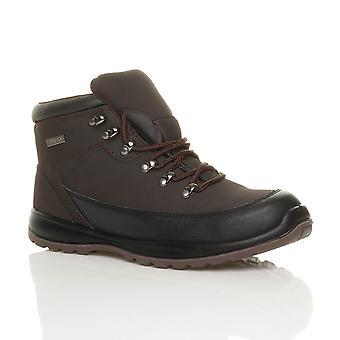Ajvani Herre læder snøre letvægts stål mellemsål toe cap fleksible eneste EN345-SBP arbejde sikkerhed ankelstøvler