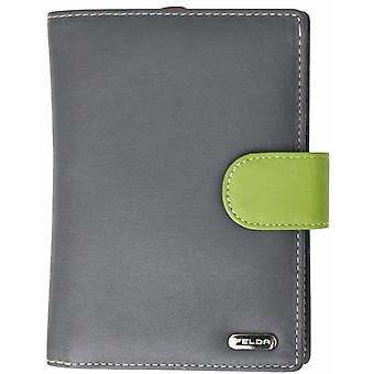 Felda RFID Genuine Leather Ladies Large Purse Wallet 23 Card Slot With Coin Sect