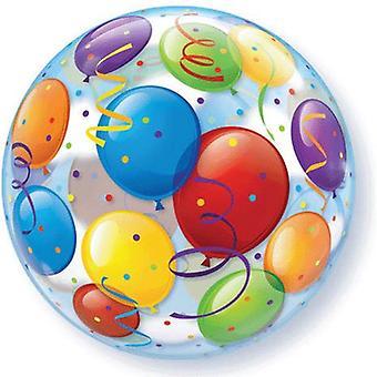 Ballon Bubble Luftballons Konfetti Party circa 55cm Ballon
