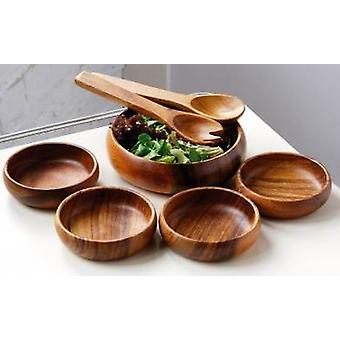 Monkey Pod 7pc Salad Set