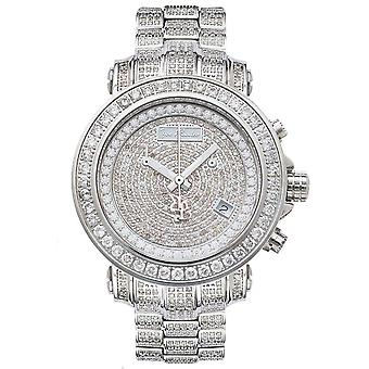 Joe Rodeo diamond men's watch - RIO silver 8 ctw
