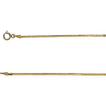 14 k イエローゴールドの固体金の柔軟なヘリンボーン チェーン ブレスレット 7.7 グラム