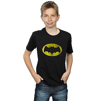DC Comics Boys Batman TV Series Distressed Logo T-Shirt