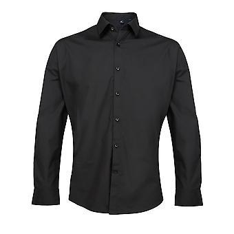 Premier Mens Supreme Poplin Long Sleeve Shirt