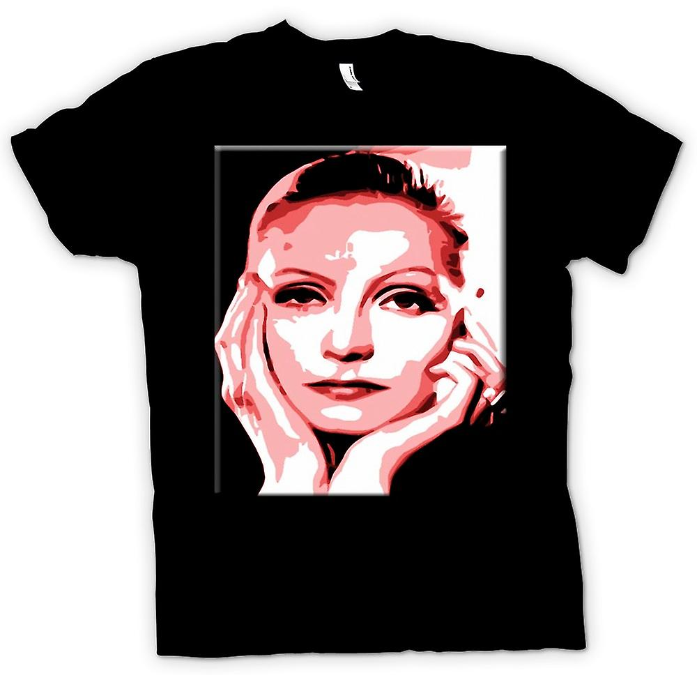 Mens T-shirt - Greta Garbo - Pink - Icon