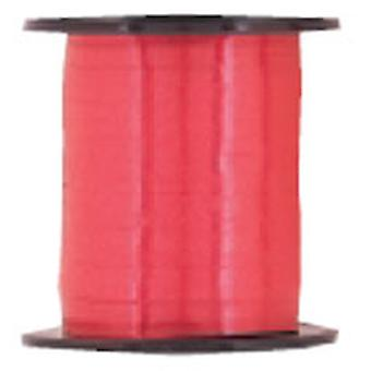 Eisstockschießen-Farbband für Ballons rot große Roll