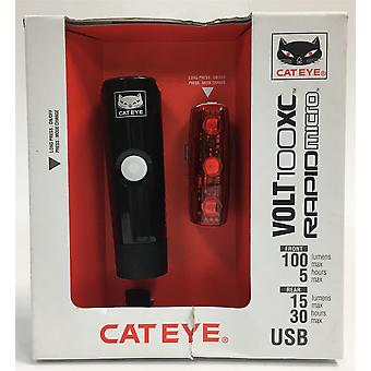 CatEye Volt 100 XC/Rapid Micro Set Lights and Reflectors, Cycling HL-EL051 TL-LD620