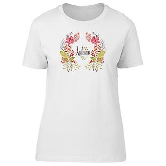 Autumn, Floral Wreath Tee Women's -Image by Shutterstock