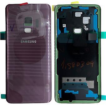 Cubierta de batería Samsung GH82-15865B para Galaxy S9 G960F + pegamento del cojín púrpura morado lila nuevo