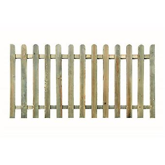 Forest Garden 4ft Wooden Picket Fence Panel