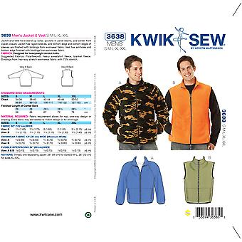 Jacket & Vest-S-M-L-XL-XXL -*SEWING PATTERN*