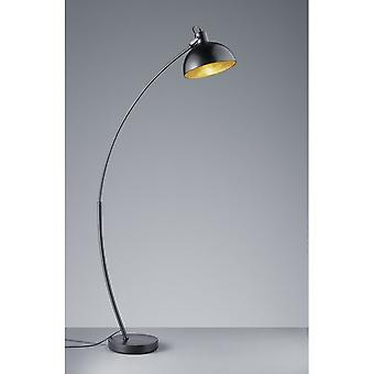 Trio Lighting Recife Modern Black Matt Metal Floor Lamp