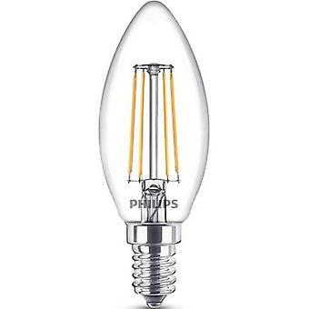 Philips Lighting LED EEC A++ (A++ - E) E14 Candle 4 W = 40 W Warm white (Ø x L) 35 mm x 97 mm Filament 1 pc(s)