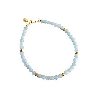 Gemshine Aquamarine armbånd gullbelagt. Håndlaget i München