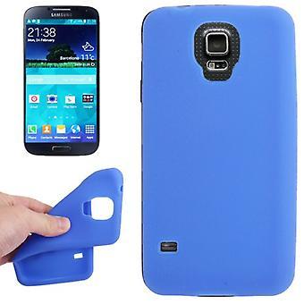 Beschermhoes siliconen beschermhoes voor Mobiel Samsung Galaxy S5 / S5 neo blauw