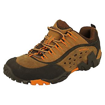 Mens Merrell Otter Leather Walking Shoes Size 10 UK