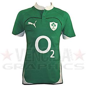 PUMA ireland home cotton short sleeve rugby shirt junior