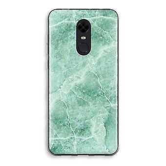 Xiaomi Redmi 5 Transparent Case (Soft) - Green marble