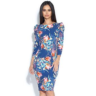Tulip Print Bodycon Dress