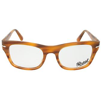 Persol 0PO3070V 960 Rectangular | Striped Brown| Eyeglass Frames