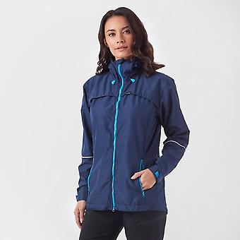 Nieuwe Paramo Women's full zip lange mouw Zefira winddicht jas blauw
