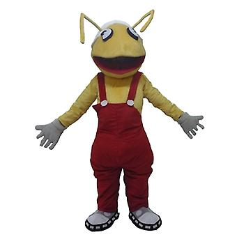 mascot ants SPOTSOUND yellow, with red overalls
