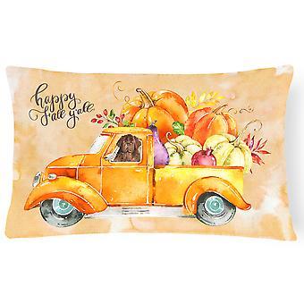 Fall Harvest Newfoundland Canvas Fabric Decorative Pillow