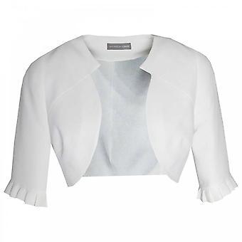 Michaela Louisa bordo della manica 3/4 a bordo Bolero giacca