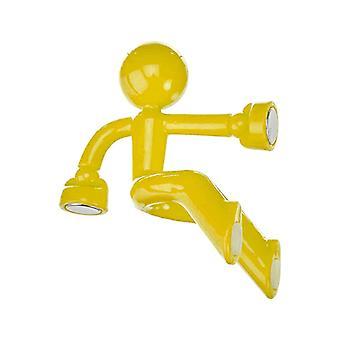 Climbing old man fridge magnet-Yellow