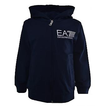 EA7 Boys EA7 Kids Navy Blue Hooded Tracksuit