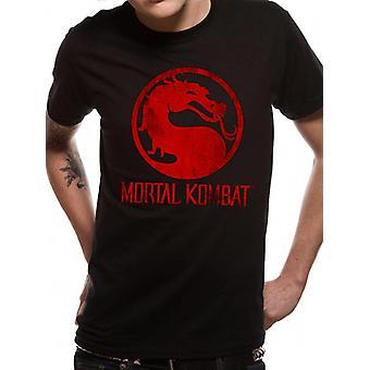 Mortal Kombat - T-Shirt postarzonym Logo (Unisex)